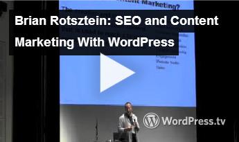 SEO & Content Marketing Guide - WordCamp Mtl 2013